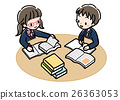 Book _ study study _ two people _ uniform 26363053