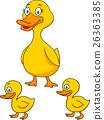 Duck family cartoon 26363385