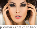 Beautiful face of a glamour woman with smoky eyes 26363472