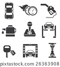 automotive icons, car parts and garage icons 26363908