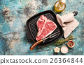 steak, t-bone, raw 26364844