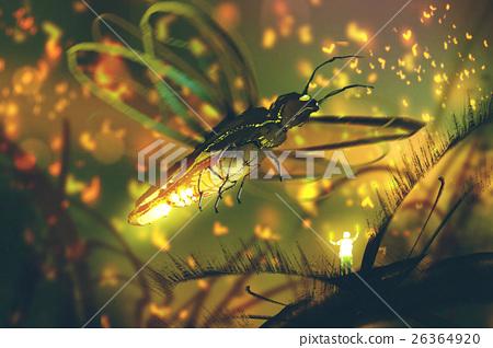 little man directing giant firefly  26364920