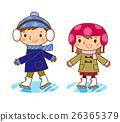 溜冰 孩子 小孩 26365379