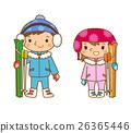 滑雪 孩子 小孩 26365446