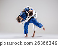 The two judokas fighters fighting men 26366349