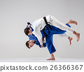 The two judokas fighters fighting men 26366367