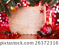 Holiday background with candles. 26372316
