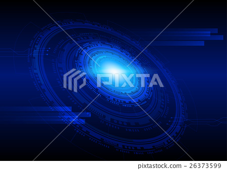 Technology sci-fi abstract background in blue 26373599