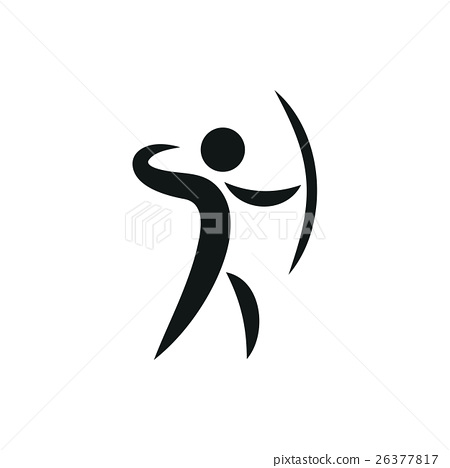 Sports icon of archery monochrome 26377817