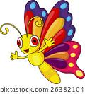 Cute butterfly cartoon  26382104