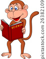 Smart monkey cartoon 26382109