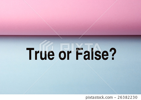 True Or False 26382230