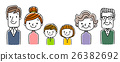 6 people Family: parents, two children and three generations of grandparents 26382692