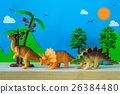 Dinosaur vegetarian on wild models background 26384480