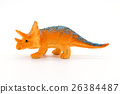Triceratops toy model on white background 26384487