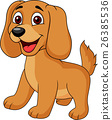 Cute dog cartoon 26385536