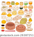 Collection of lovely baby chinese food doodle icon 26387251