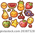 Collection of glitter fruit with sugar coat  26387328