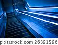 Lifting escalator in modern building 26391596