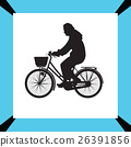 bicyclist silhouette vector 26391856