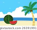 海灘 沙灘 夏天 26391991