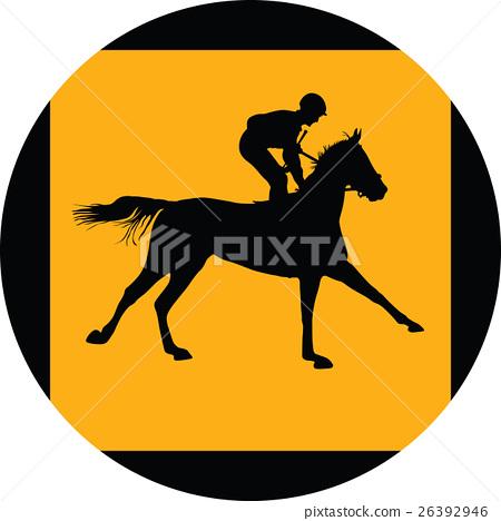 horse and jockey 26392946