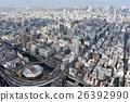 오사카 시내를 공중 촬영 26392990