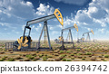 Oil pumps in a landscape 26394742