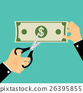 Businessman cutting money. Business concept. 26395855