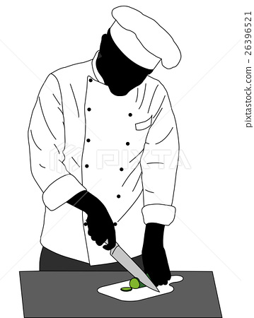 chef cooking illustration 26396521