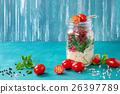 Salad with quinoa in jar 26397789
