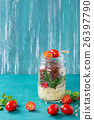 Salad with quinoa in jar 26397790