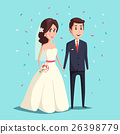 Bride and groom as wedding couple illustration 26398779