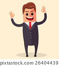 Vector manager character happy and with open arms 26404439