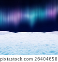 Aurora borealis in the night sky. 3D illustration. 26404658