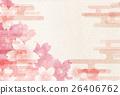 佐仓日本纸新年卡背景 26406762