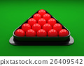 Snooker ball on the table.  26409542