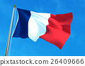 France flag on the sky background. 26409666
