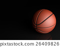 Basketball on black background. 26409826