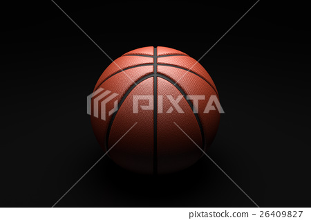 Basketball on black background. 26409827