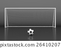 Soccer goal with ball. 26410207
