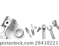 Set fo Tools on white background. 26410221