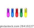 Colorful of Medical pills on white background. 26410227