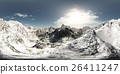 panorama of mountains. made with the 360 degree 26411247