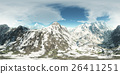 panorama of mountains. made with the 360 degree 26411251