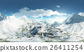 panorama of mountains. made with the 360 degree 26411254
