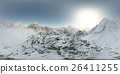panorama of mountains. made with the 360 degree 26411255