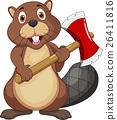 Beaver with axe 26411816