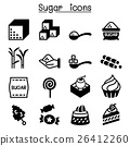 Sugar icon set 26412260