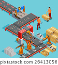 Automated Factory Production Line Isometric 26413056